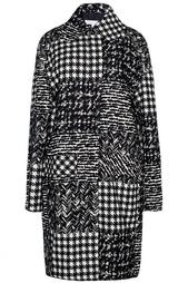 Шерстяное пальто с принтом Oscar de la Renta