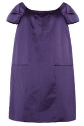 Сливовое платье-трапеция Marc Jacobs