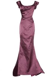Шелковое платье со шлейфом Zac Posen
