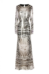 Платье в пол с принтом Emilio Pucci