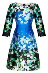 Шелковое платье с принтом - нет в наличии Oscar de la Renta