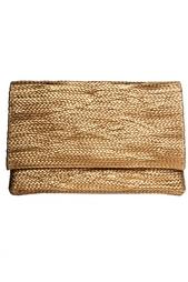 Плетеный золотой клатч Jay Ahr