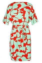 Шелковое платье с принтом Diane von Furstenberg