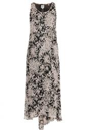 Шелковое платье с принтом Halston Heritage