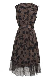 Шелковое платье без рукавов Nina Ricci