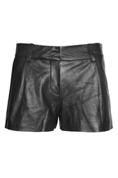 Черные кожаные шорты Diane von Furstenberg
