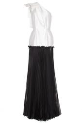 Вечернее платье черного и белого цвета Lublu Kira Plastinina