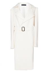 Шерстяное пальто с широким поясом Roland Mouret