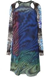 Шелковое платье с принтом Peter Pilotto