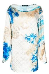 Шелковая блуза с принтом Balmain