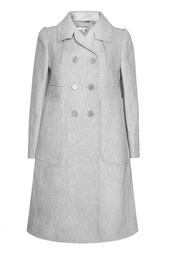 Шерстяное пальто с накладными карманами Carven