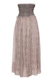 Шелковая юбка с принтом Isabel Marant