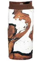 Юбка с принтом из хлопка Preen