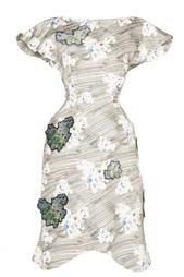 Платье с принтом и аппликациями Vika Gazinskaya