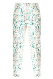 Хлопковые брюки с принтом Vika Gazinskaya