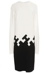 Черно-белое платье из вискозы Vionnet