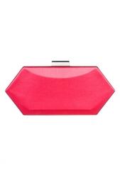 Красная сумка из кожи Oscar de la Renta
