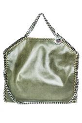 Классическая сумка оливкового цвета Stella Mc Cartney