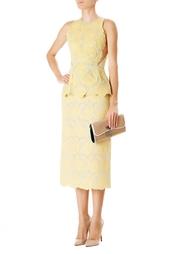 Желтое платье-миди Stella Mc Cartney
