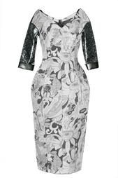 Шерстяное платье с принтом Marc Jacobs