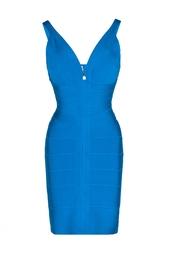 Бандажное платье на бретелях Hervé Léger