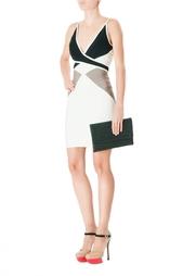 Бандажное платье с V-образным вырезом Hervé Léger