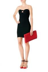 Черное бандажное платье-бюстье Hervé Léger