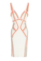 Бандажное платье на молнии Hervé Léger