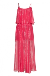 Шелковое платье на бретелях Halston Heritage