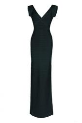 Бандажное платье в пол Hervé Léger