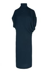 Темно-синее платье под горло Stella Mc Cartney