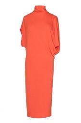 Оранжевое платье под горло Stella Mc Cartney