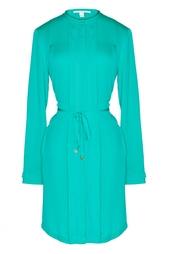 Шелковое платье с поясом Diane von Furstenberg