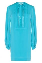 Шелковое платье с длинными рукавами Diane von Furstenberg