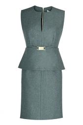 Серое коктейльное платье Diane von Furstenberg
