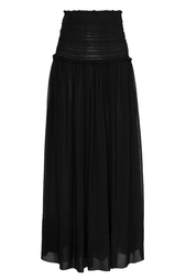 Черная шелковая юбка Isabel Marant