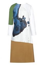 Платье из вискозы с принтом Preen