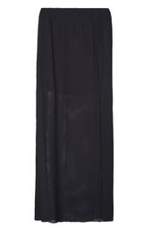 Черная юбка с разрезами Vionnet