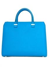 Голубая кожаная сумка Victoria Beckham