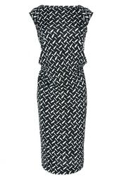 Шелковое платье-футляр без рукавов - нет Diane von Furstenberg