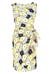 Платье с принтом из шелка Diane von Furstenberg