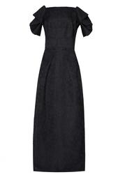 Платье в пол с принтом Roland Mouret