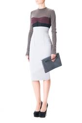 Платье с длинным рукавом на молнии Victoria Beckham