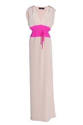 Платье в пол с яркой вставкой Thakoon