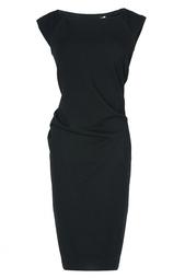 Черное драпированное платье-футляр Diane von Furstenberg