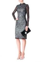 Черное полупрозрачное платье из вискозы Diane von Furstenberg