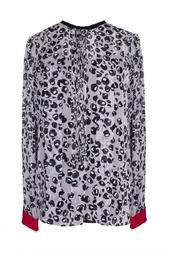 Полупрозрачная блуза с принтом-в браке Diane von Furstenberg