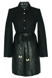 Пальто на пуговицах с поясом Diane von Furstenberg