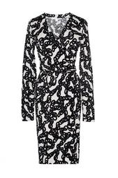 Платье из хлопка с принтом в виде цепей Diane von Furstenberg