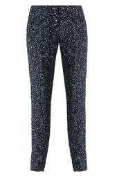 Черно-белые шелковые брюки Diane von Furstenberg